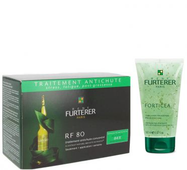 Rene Furterer Duo - RF 80 Serum (12x 5ml Ampullen) + GRATIS: Forticea Shampoo 150ml