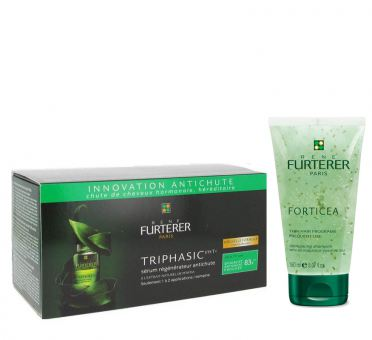 Rene Furterer Duo - Triphasic Serum (8x5,5ml Ampullen) + GRATIS: Forticea Shampoo 150ml