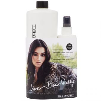 Paul Mitchell - On The Horizon Refill Plus Freeze and Shine Super Spray 1000ml + 250ml GRATIS dazu!