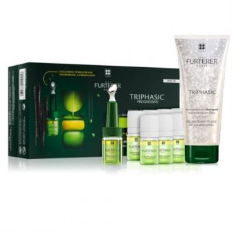 Rene Furterer Duo - Triphasic PROGRESSIVE Serum (16x5,5ml Ampullen) + GRATIS: Triphasic Shampoo 150ml (3x 50ml)