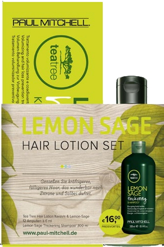 Paul Mitchell -  Duo TEA TREE hair lotion LEMON-SAGE 12*6ml + Tea Tree Lemon Sage Thickening Shampoo 300ml