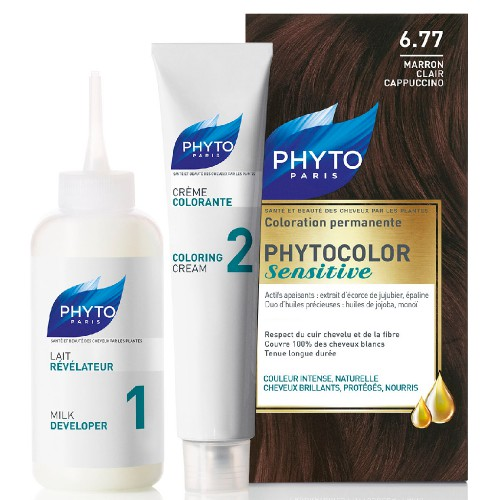 Phyto - PHYTOCOLOR SENSITIVE 6.77 - Hellbraun Cappuccino